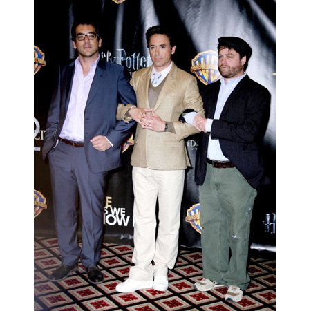 Todd Phillip Robert Downey Jr Zach Galifianakis At Arrivals For Wb Showest Party Paris Hotel Las Vegas Nv March 18 2010 Photo By MoraEverett Collection