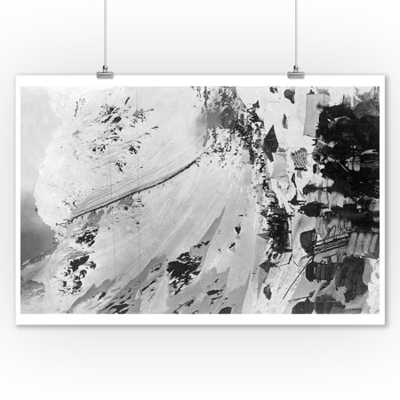 Alaska Aerial Photo - Chilkoot Pass, Alaska - Aerial View of the Chilkoot Pass - Vintage Photograph (9x12 Art Print, Wall Decor Travel Poster)
