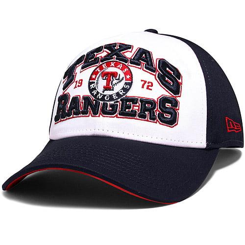 Texas Rangers New Era Blocked Out 39THIRTY Flex Hat - White/Navy