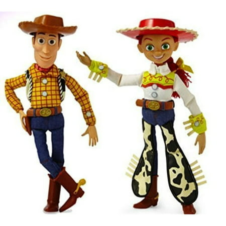 Disney Toy Story Collection Woody Jessie Talking Action Figure Bundle 16''. Perfect Gift for You Child Xmas - Woody Toy Story Jessie
