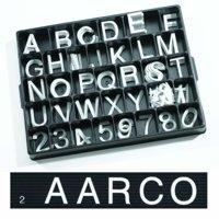 Universal Single Tab Changeable Letters AARHF20