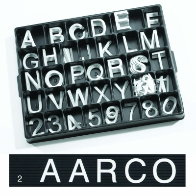 Universal Single Tab Changeable Letters AARHF20