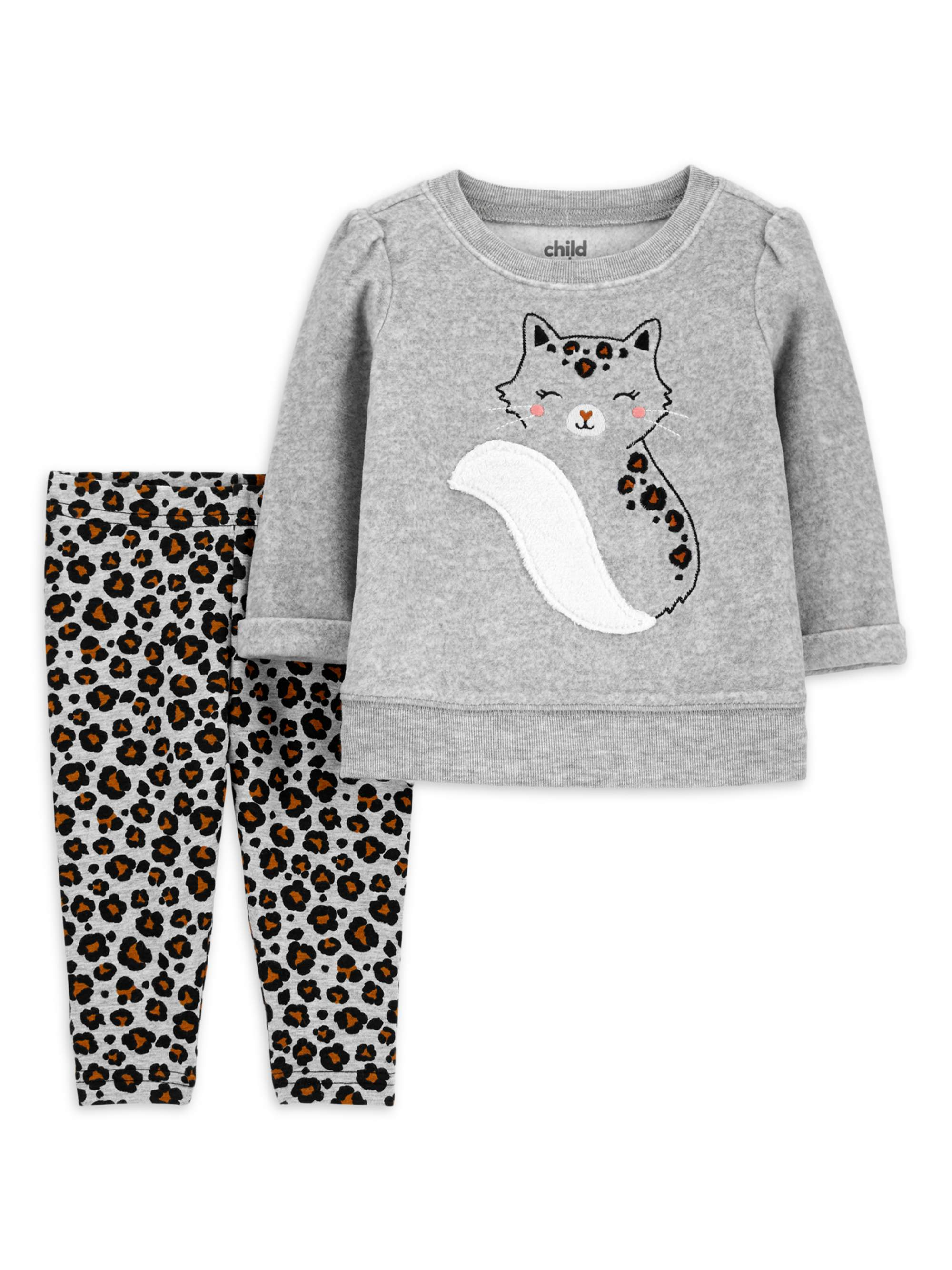 Carter/'s Child of Mine White /& Purple with Owl 2 Pc Dress