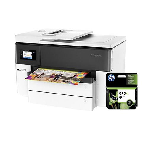 """HP OfficeJet 7740 Wide Format AIO Printer w  952XL Black Ink Cartridge Officejet Pro 7740 AIO Printer"" by HP"