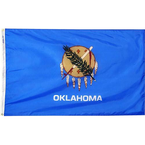 Oklahoma State Flag, 3' x 5', Nylon SolarGuard Nyl-Glo, Model# 144360