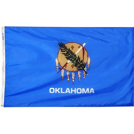 Oklahoma State Flag, 3' x 5', Nylon SolarGuard Nyl-Glo, Model# 144360