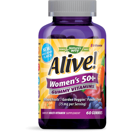 Alive! Womens 50+ Gummy Vitamins Multivitamin Supplements 60 (Best Gummy Vitamins For Women)