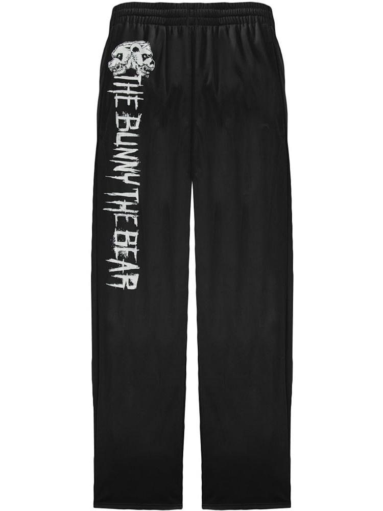 Kid Skull Electrician Power Boys Girls Sweatpants Basic Trousers Back Pocket Black