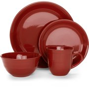 Mainstays Stoneware Assorted Colors Dinnerware Set, 16 Piece