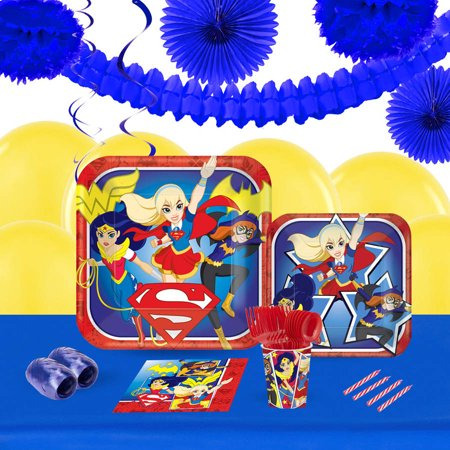 DC Super Hero Girls 16-Guest Tableware and Decoration Kit](Superbowl Decorations)