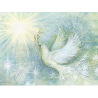 Lang Companies,  Peaceful Dove Artisan 6 In X 4.5 In Classic Christmas