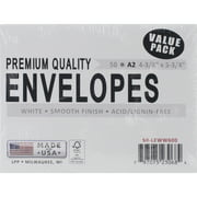 "Leader Paper Products A2 Envelopes, 4.375"" x 5.75"", 50/Pkg"