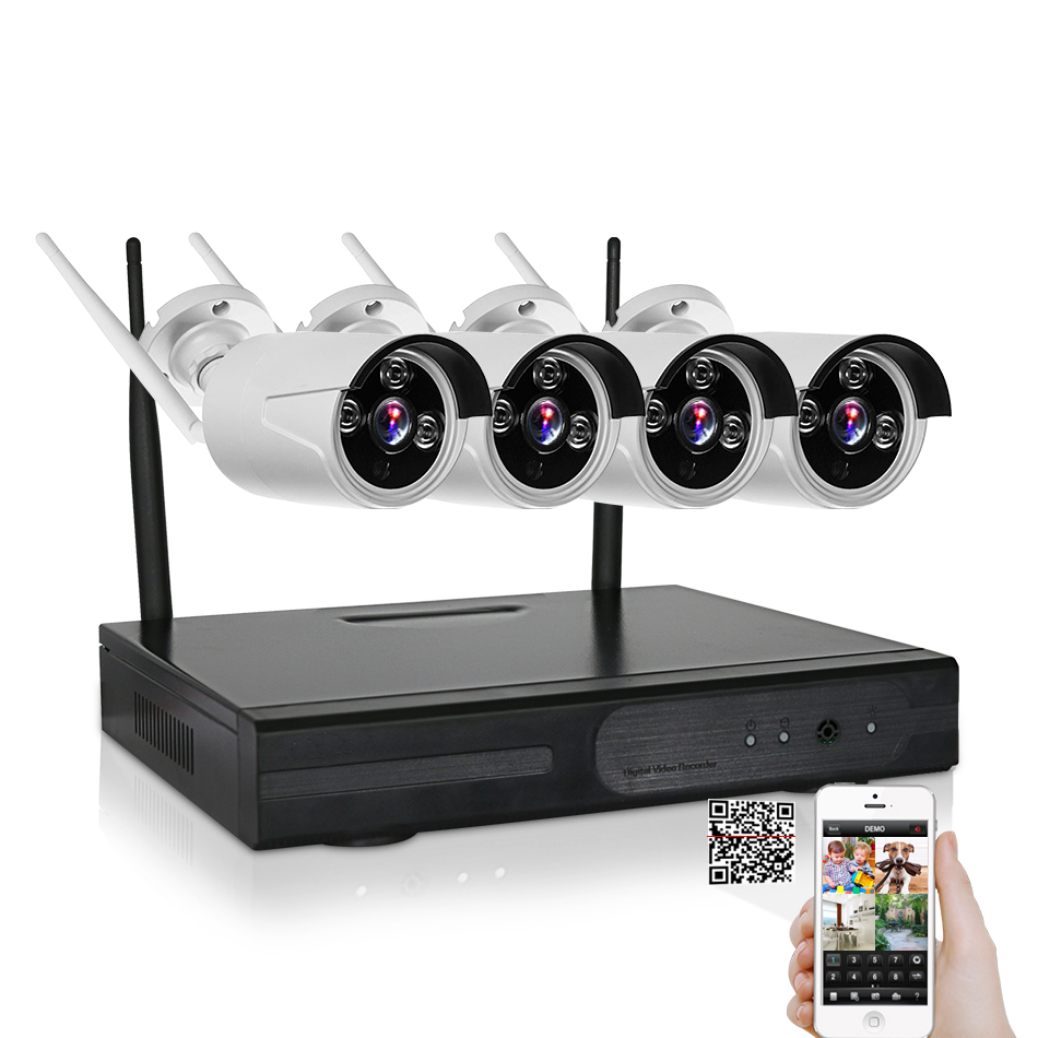iMeshbean 4ch 1TB HDD NVR CCTV Security 960P Cameras Wireless Outdoor Night vision system