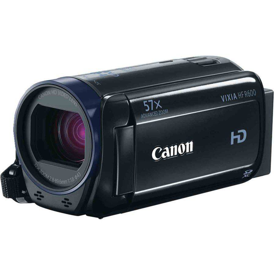 "Canon Vixia Hf R600 Digital Camcorder - 3"" - Touchscreen Lcd - Cmos - Full Hd - Black - 16:9 - 2.1 Megapixel Video - Mp4, Avchd, Mpeg-4 - 32x Optical Zoom - 1140x Digital Zoom - Optical, (0280c001)"