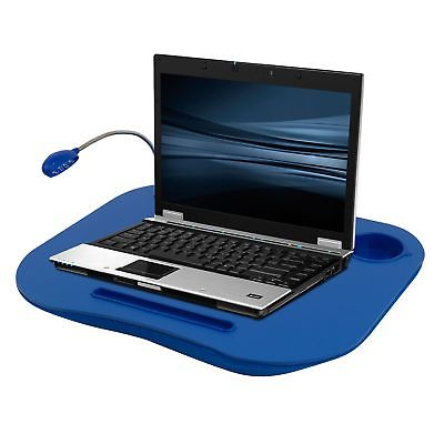 Laptop Lap Desk, Portable Tray With Foam Cushion, Adjustable LED Desk Light