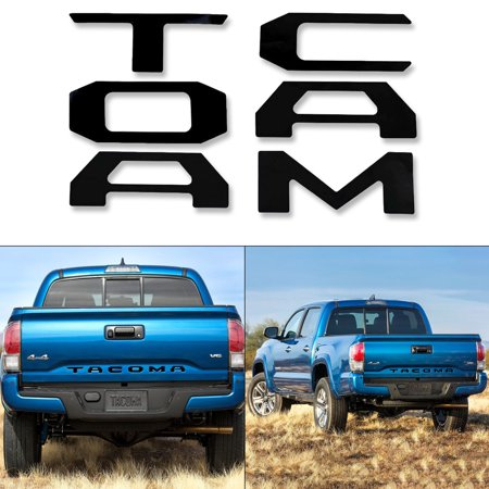 Black Vinyl Insert - Xotic Tech Glossy Black Vinyl Insert Letters Decal Sticker For Toyota Tacoma 2016 2017 2018 Tailgate