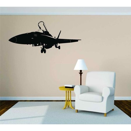 Military Fighter Plane War Aircraft Graphic Vinyl Wall Decal Bedroom Decoration Kid Boy Girl Teen Dorm Room Children 15x30 (Teen Boys Bedroom Decorations)