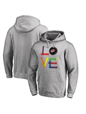 Carolina Hurricanes Fanatics Branded Hockey Is For Everyone Love Square Pullover Hoodie - Heather Gray