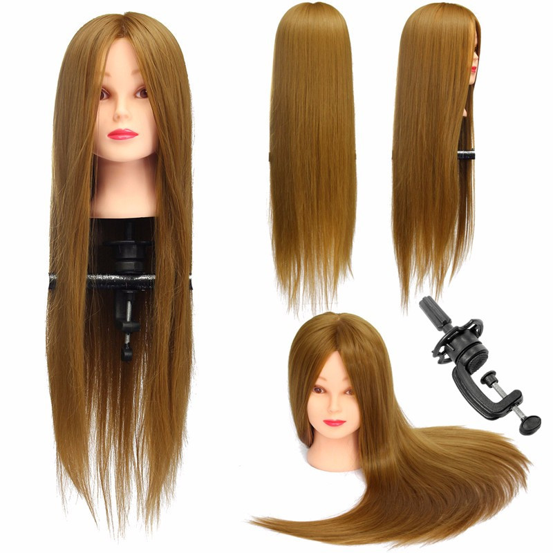 26'' Cosmetology Practice Training Head,Mannequin Head With 30% Human Hair + Clamp