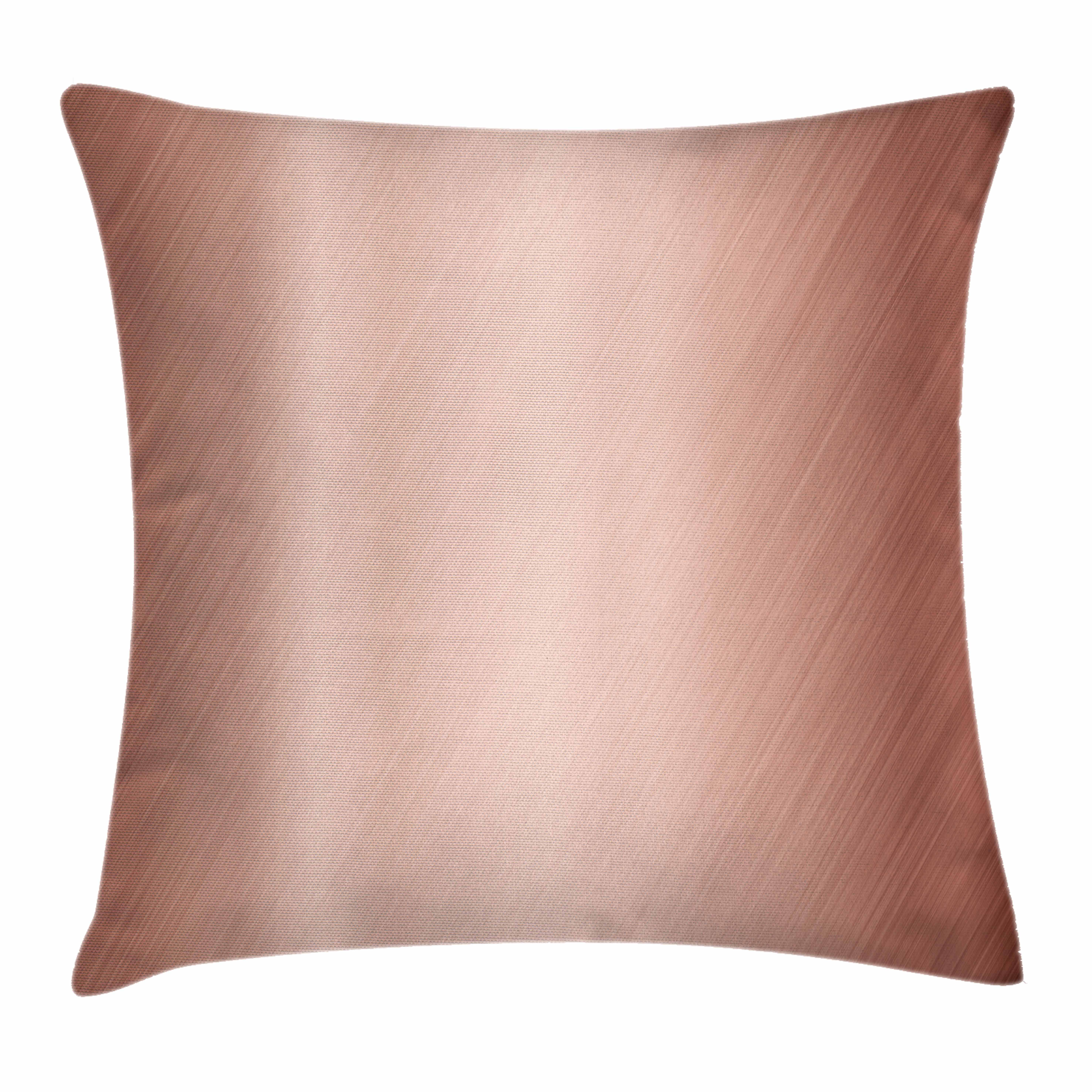 Copper Decor Throw Pillow Cushion Cover, Abstract Smooth Alloy Surface Image Diagonal Lines with Reflection, Decorative Square Accent Pillow Case, 24 X 24 Inches, Bronze Light Bronze, by Ambesonne