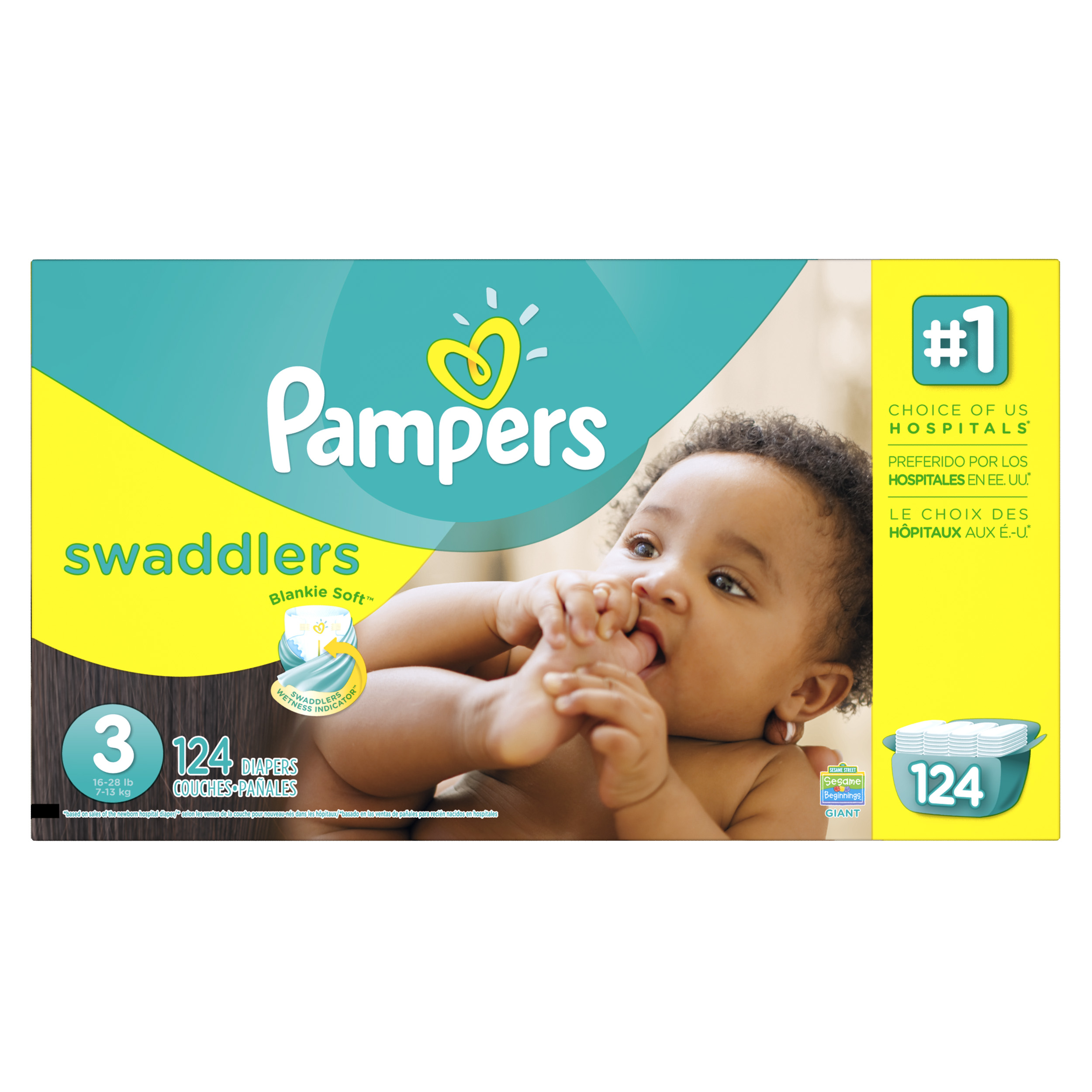 Pampers Swaddlers Diapers (Choose Diaper Size and Count)