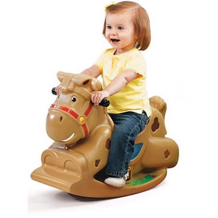 Brown Rocking Horse - Step2 Patches the Rocking Horse, sturdy design to help prevent tipping