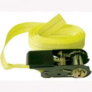 """Keeper 85512 Ratcheting Tie Down, Endless Loop, 13' x 1"""" Yellow Hi-Test Webbing, 1200 lbs Break Strength"""