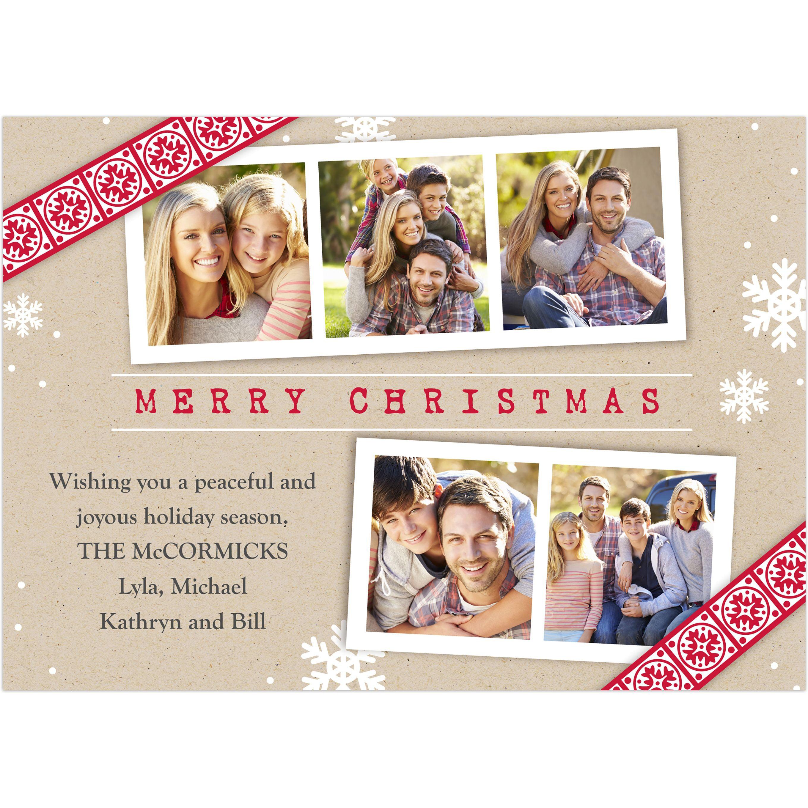 Christmas Gazette - 5x7 Personalized Christmas Card