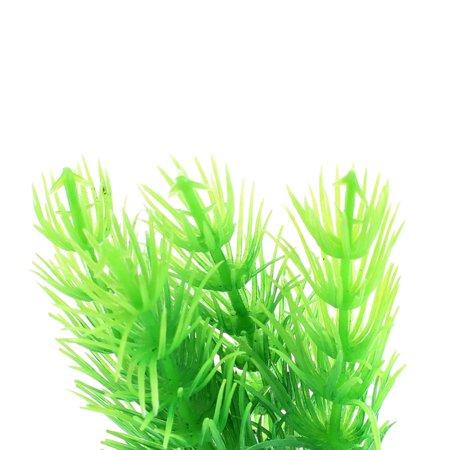 Unique Bargains Aquarium Fish Tank Artificial Plastic Plant Water Grass Ornament 10 Pcs Green - image 1 of 3