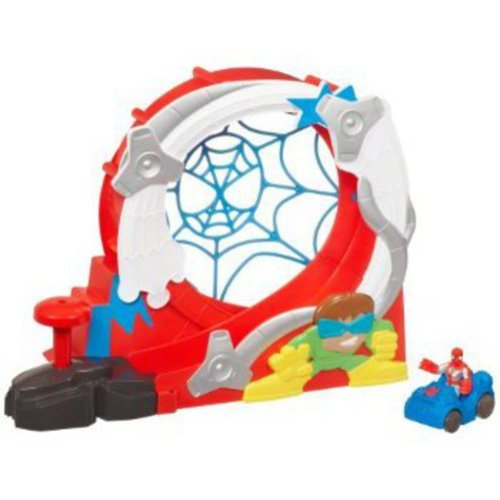 Spider-Man Adventures Playskool Heroes Stuntacular Speed Loop Set
