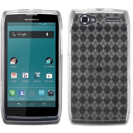 Motorola XT881 Electrify 2 MyBat Candy Skin Cover, Transparent Clear Argyle Pane (Transparent Clear Skin)