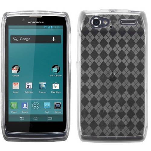 Motorola XT881 Electrify 2 MyBat Candy Skin Cover, Transparent Clear Argyle Pane