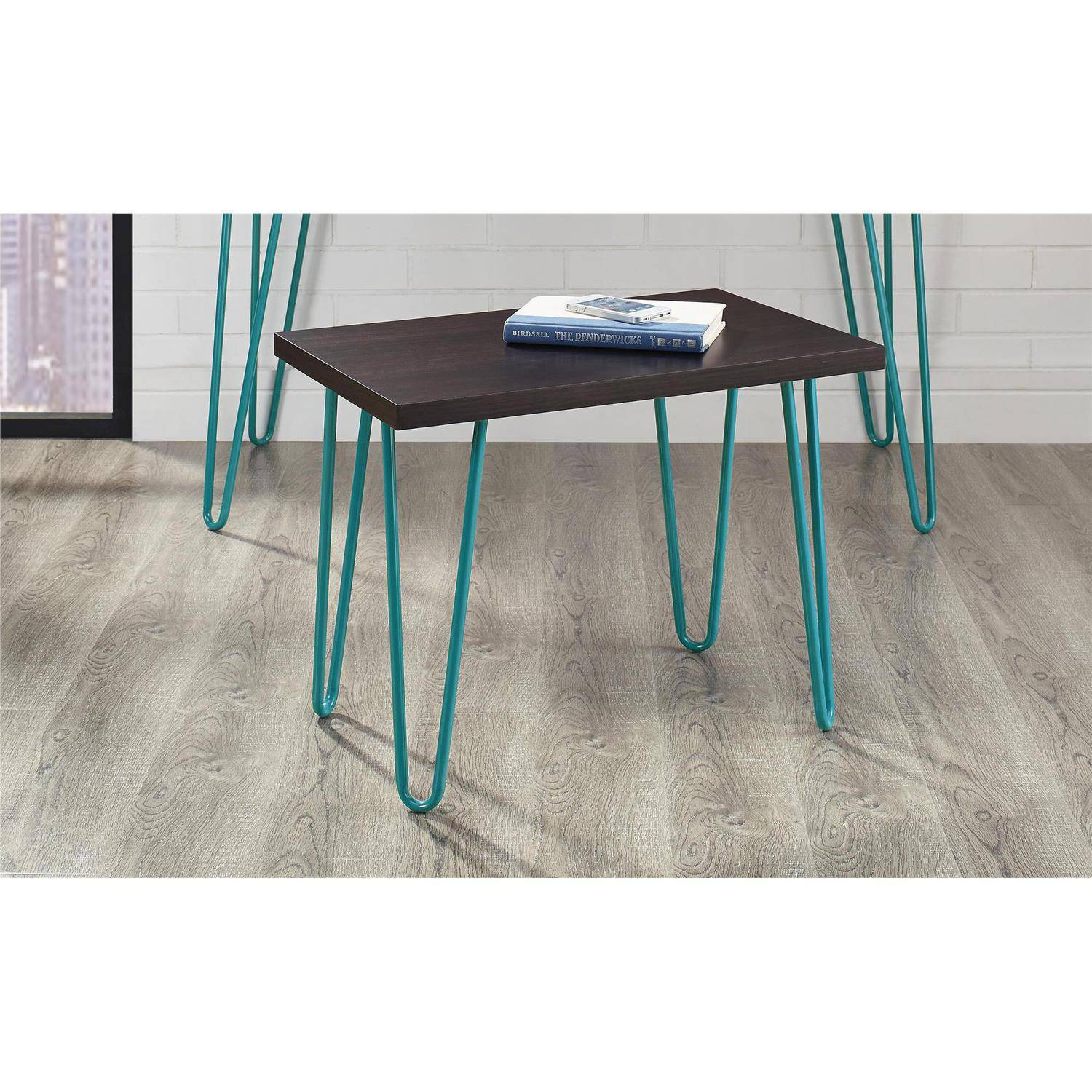 Altra Owen Retro Stool 17 Quot Espresso Finish With Teal