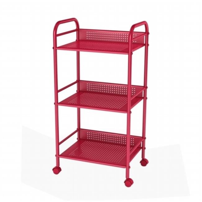 Atlantic 38436151 3 Tier Shelf-go Cart - Red