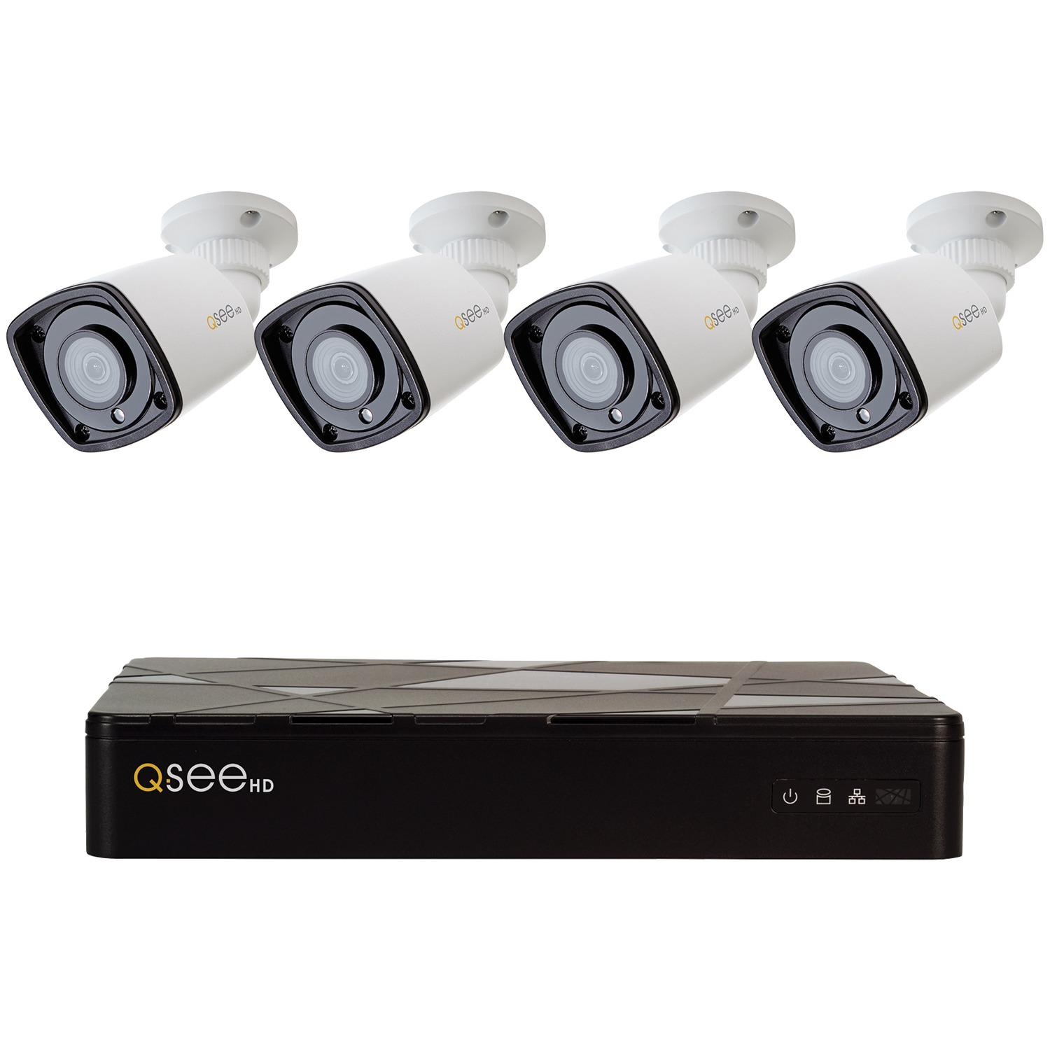 8-Channel 1080p 2TB NVR with 4 1080p IP HD Color Night Vision Bullet Cameras