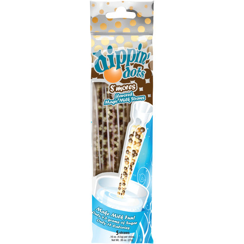 Dippin' Dots S'Mores Flavored Magic Milk Straws, .16 oz, 5 count