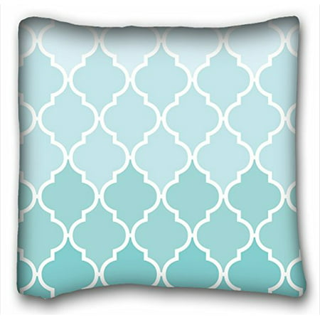 WinHome Chevron Gradient Wave Tribal Striped Geometric Pillowcase Throw Cushion Pillow Case Cover Anchor Light Blue Coral Teal Pink Mint Green Turquoise Aqua Grey Beige For Home Sofa Size 18x18 (Green Toile Quilted Pillow)