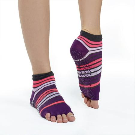 Gaiam Toeless Yoga Socks Pink/Purple
