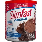 SlimFast Original Rich Chocolate Royale Meal Replacement Shake Mix  Weight Loss Powder  12.83oz.  14 servings