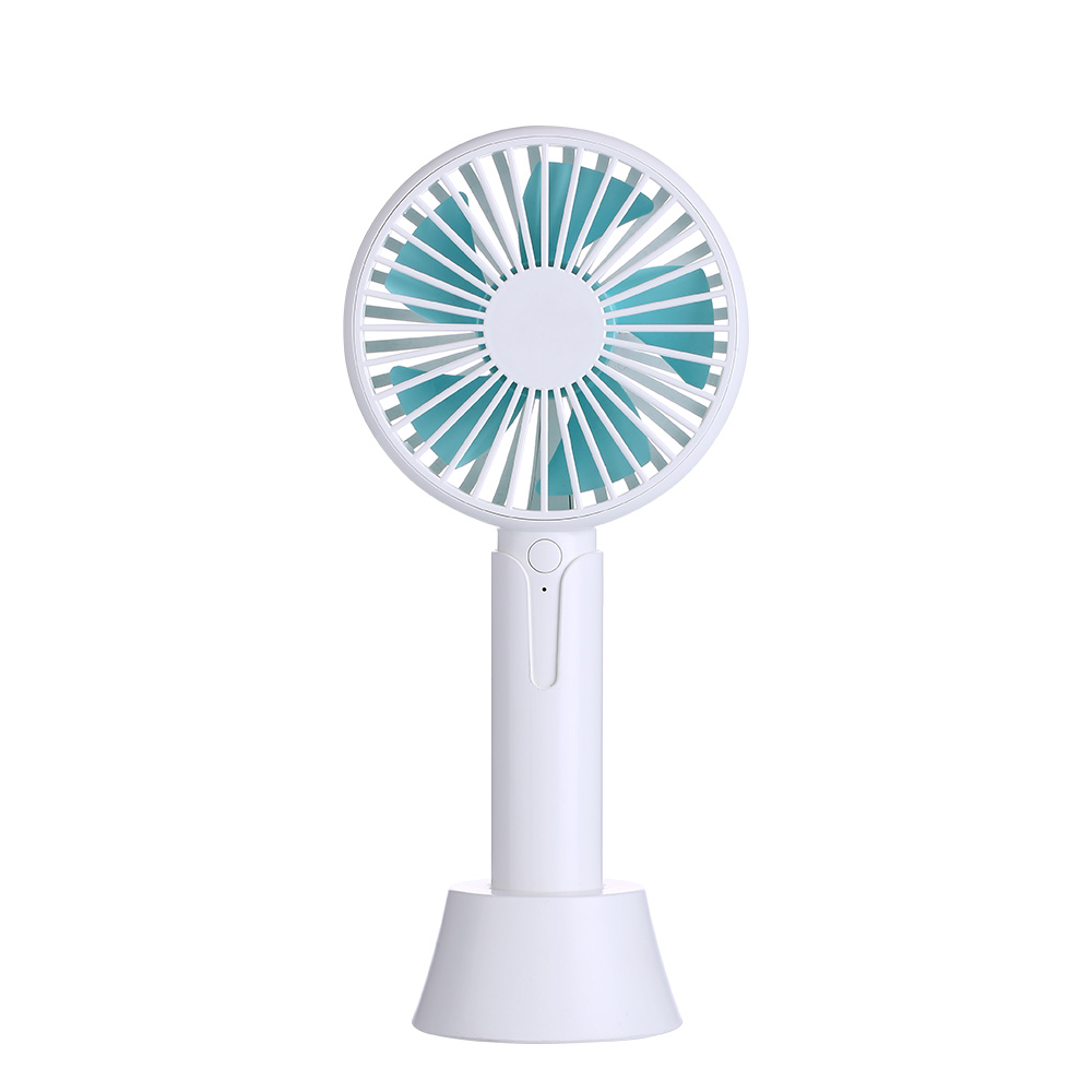Mini Portable Fan Handheld Mini Fan With USB Rechargeable Detachable Base For Travel Camping 3 Speeds 4 Hours Handheld Mini Fan USB Powered Or Rechargeable 1200 MAh Battery 3 Colors USB Fan for Travel
