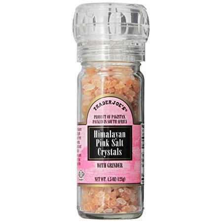 (Trader Joe's Himalayan Pink Salt Crystals with Built in Grinder Natural and Pure Use in Any Dish You Would Use Regular Salt - 4.5oz)