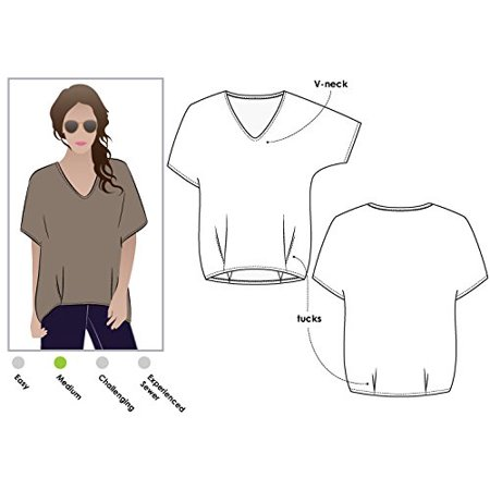 Style Arc Sewing Pattern - Daphne Tunic - Sizes