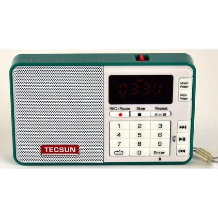 Tecsun Q3 High Sound Quality FM Radio with MP3 Player and Recorder - Green ()