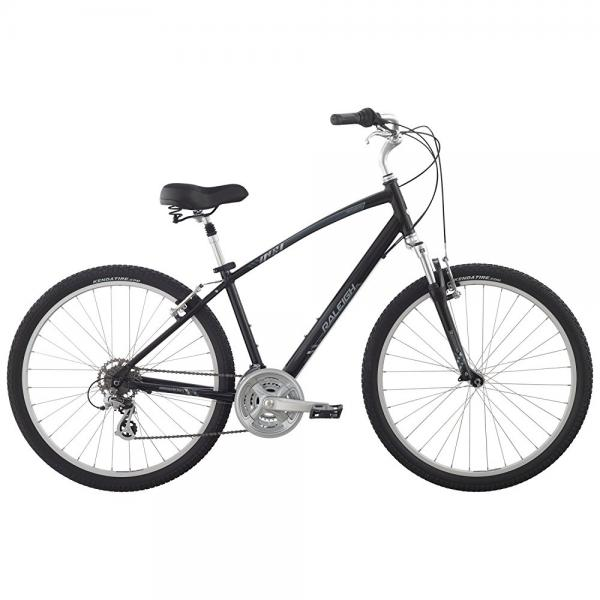 "raleigh bikes venture 3.0 comfort bike, 17"" /md, black, 17"" / medium"