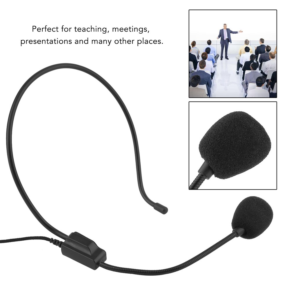 Portable Wireless Headset Microphone System Mic FM Transmitter Receiver by Generic