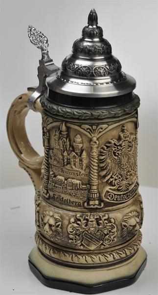 Beer Stein by King Deutschland (Germany) Famous Landmarks CoA Beer Mug Rustic 0.4l Limited... by King Werke Germany