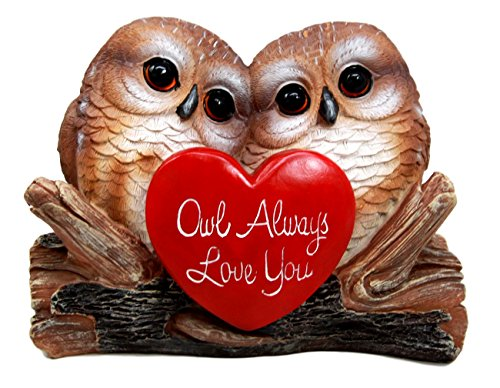 "Atlantic Collectibles Romantic Owl Couple Love Birds Decorative Figurine 5.25"" Tall by Atlantic Collectibles"