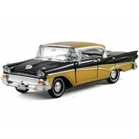 05 Toy - 1958 Ford Fairlane Town Victoria Hard Top, Black - Arko 05861 - 1/32 Scale Diecast Model Toy Car