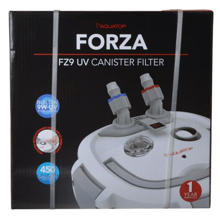 Aquatop Forza Uv Canister Filter With Sterilizer - FZ9 UV Canister Filter 9 Watt - 450 GPH - (90-125