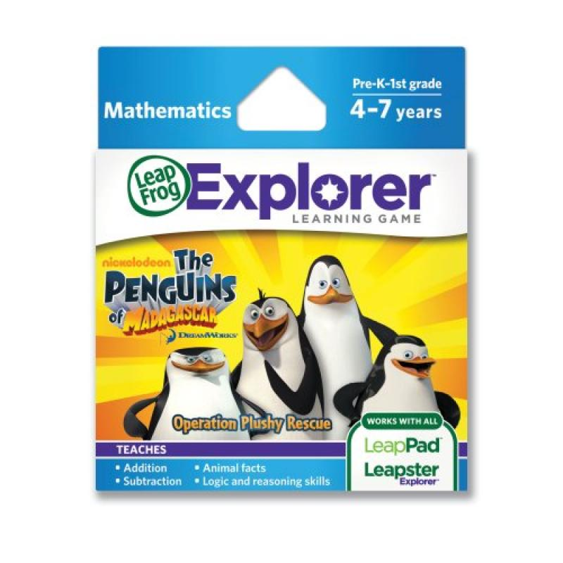 LeapFrogThe Penguins of Madagascar: Operation Plushy Rescue Learning Game (works with LeapPad TIlets and LeapsterGS)